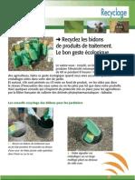 Recyclage des déchets agricoles (Aficar )
