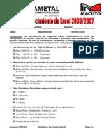 Test de Excel