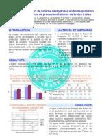Influence de l'apport de luzerne déshy en fin de gestation sur performance brebis laitières ( (CNBL)