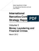 US Department of State International Narcotics Control Strategy Report Vol II- ML and Financial Crimes March 2012