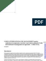 CODUL International de Management Pentru area in Siguranta a Navelor Si Prevenirea Poluarii