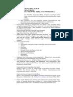 Petunjuk Penulisan Jurnal Ilmiah