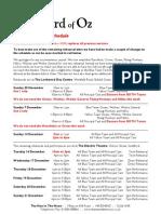 Revised Reherasal Schedule