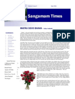 May Issue of Sangamam Times