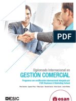 Tríptico Diplomado Internacional en Gestión Comercial