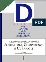 Autonomia, Competenze e Curricoli