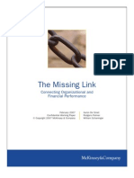 The Missing Link - Connecting Organizational and Financial Performance