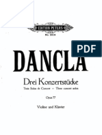 Dancla-3 Concert Solos Op77 Violin Piano