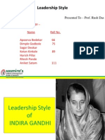 Indira Gandhi Leadership Style
