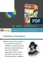 Apresentação 1 - Princípios básicos Do Raciocínio Geológico (Tectónica de Placas)