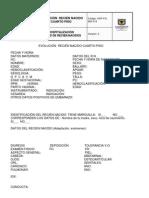 HSP-FO-260-014 Evolucion Recien nacido cuarto Piso
