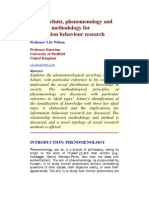 WILSON - Alfred Schutz, Phenomenology and Research Methodology for Information Behaviour Research