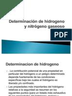 Determinación de hidrogeno y nitrógeno gaseoso presentacion