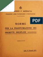 Norme Per La Frantumazione Dei Proietti Inesplosi - 1917