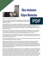 INFORME MISIONERO DE MANIZALEZ - A SEPTIEMBRE DE 2008