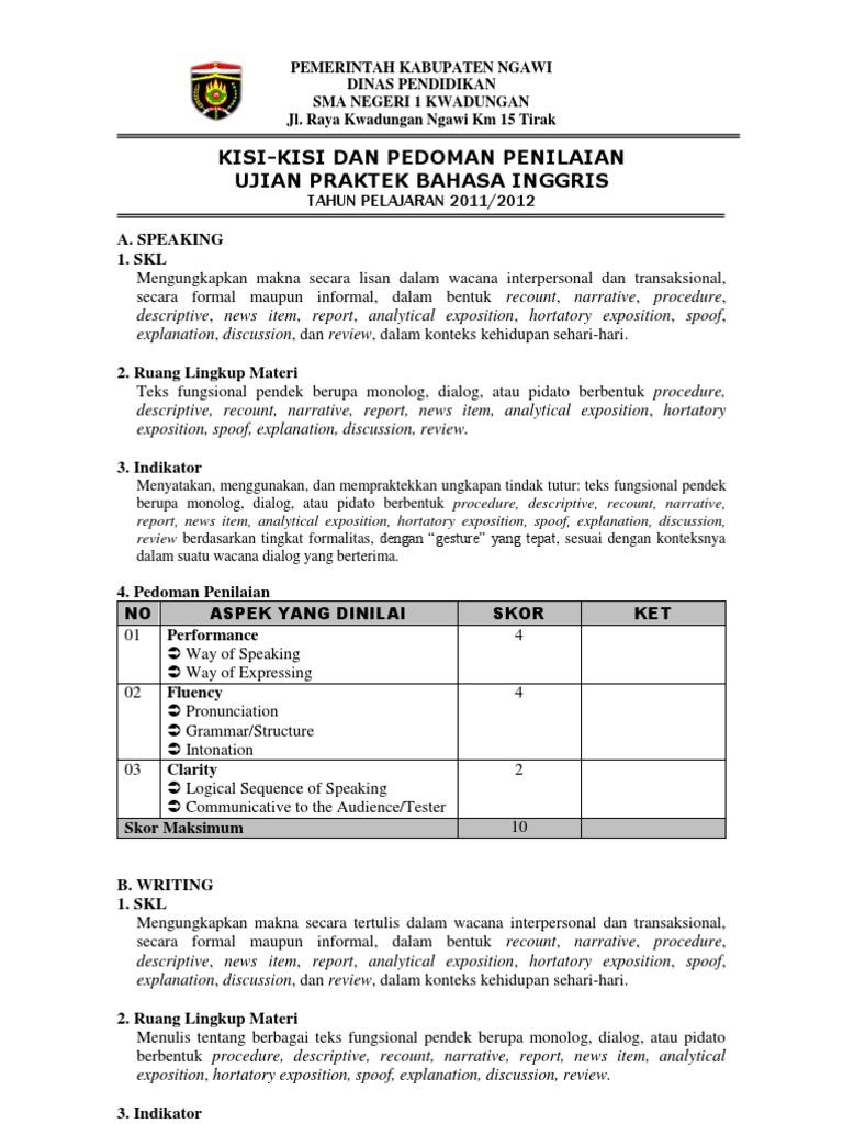 Contoh Teks Pidato Ujian Praktek Bahasa Indonesia ...