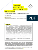 Collective Agency Nos Human Causality and Enviromental Social Movements