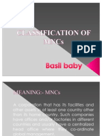 Classification of Mnc