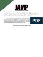 2012 Houston JAMP Camp Ad-App-Schedule
