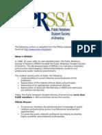 PRSSA - About (Manual)
