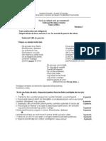 Varianta 7 Limba Romana semestrul I cls a viii-a anul 2008-2009