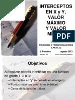 Intercepto Valor mÁximo Valor mÍnimo Version Blog