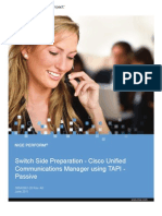Cisco Unified Communications Manager Using TAPI - Passive - Switch Side Preparation - NP - All Releases