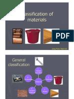 Materials´ Classification