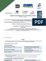 Convocatoria -XXIII Congreso CUAM -ACMor-2012