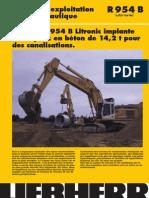 Rapport d'Exploitation Pelle Hydraulique R 954 B La Pelle