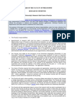 Research Staff Code of Practice - Philosophy