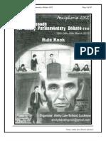 1st Amity PD'12 Rule-Book