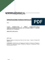 Canal Intervalles - Tomo III - Especificaciones Técnicas Particulares
