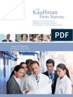 Who Are User Entrepreneurs? Findings on Innovation, Founder Characteristics, and Firm Characteristics (The Kauffman Firm Survey)