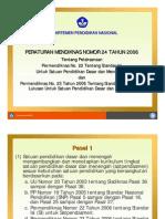 Permendiknas No. 24_2006 Dan No. 6 Tahun 2007 (Pelaksanaan 22,23)_presentasi