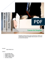 Derecho Laboral - Causas d Despido