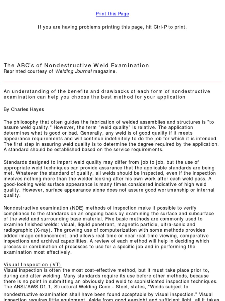 The abcs of nondestructive weld examination lincoln electric the abcs of nondestructive weld examination lincoln electric x ray welding biocorpaavc Images