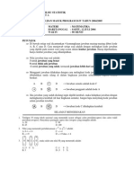 Contoh Soal Dan Pembahasan Ujian Masuk Stis 2004-2007