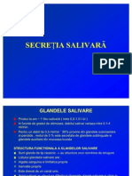 Curs Fiziologie an i Medicina - Secretia Salivara