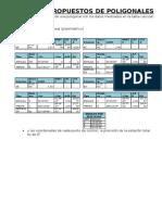 Ejercicios Propuestos de Poligonales