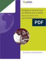 Estrategias de Intervención que dan Resultado para los Jóvenes Resumen del informe de fin del programa ENFOQUE en Adultos Jóvenes