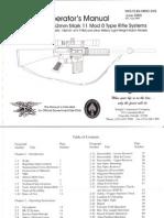 Kac Sr-25 Operator's Manual