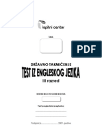 Engleski Takmicenje Test