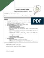 Equações do 1º grau - 8º
