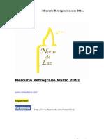 Mercurio Retrogrado Marzo 2012