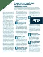 Diez formas de abordar con efectividad el tema del aborto realizado en condiciones inadecuadas