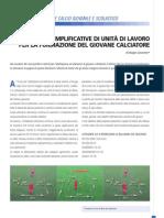 Proposte esemplificative di unità di lavoro per la formazione del giovane calciatore