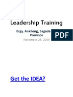 Leadership Training for Sagada2
