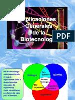 Aplicaciones generales de la biotecnología - Salud - Alimentación
