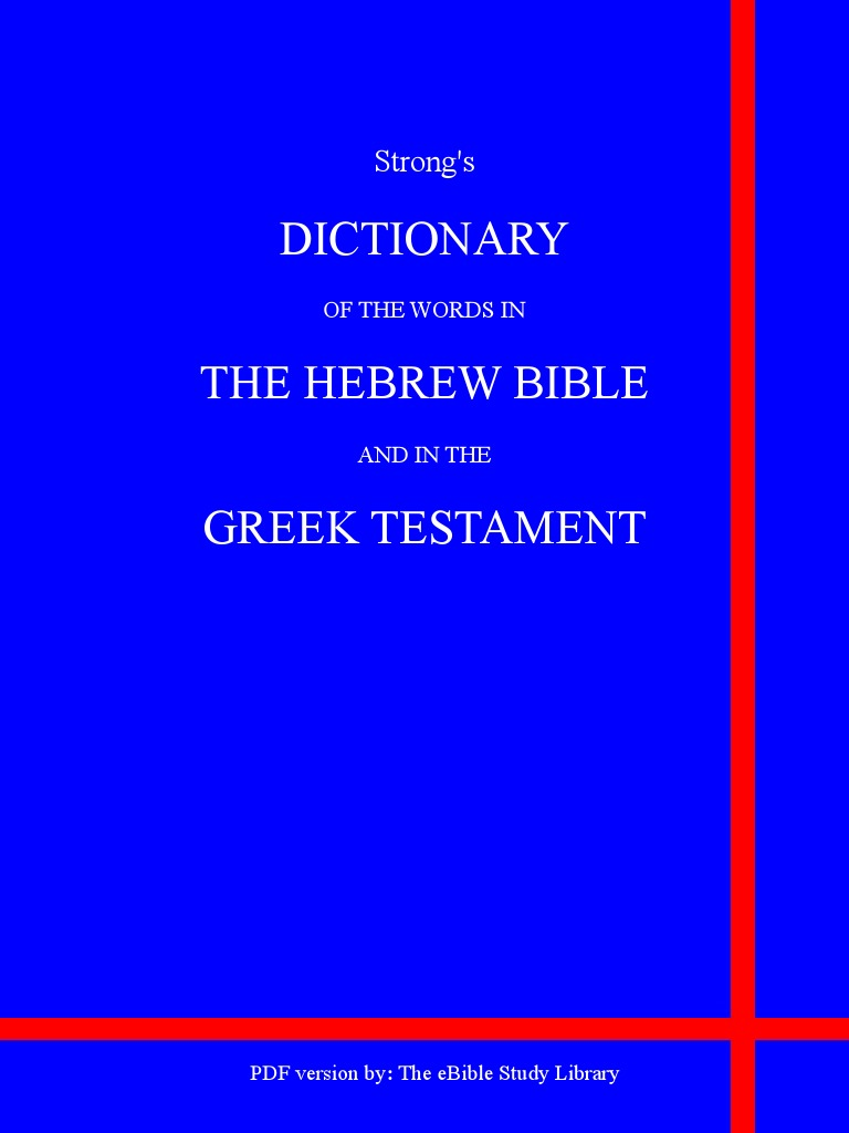 Strong's Greek and Hebrew Dictionaries   Hebrew Language   English